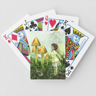 The Curious Fairy - Fairy and Toadstools Bicycle Playing Cards