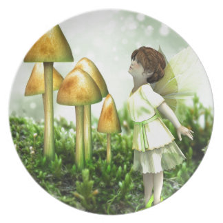 The Curious Fairy - Fairy and Toadstools Party Plates