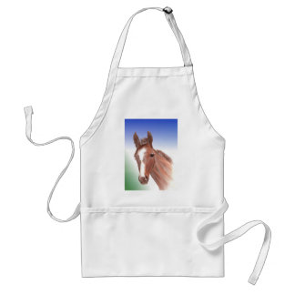 The curious foal adult apron