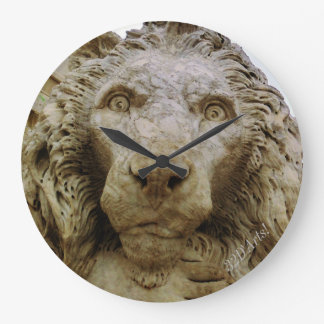 The Curious Lion of Massa, Large Round Wall Clock