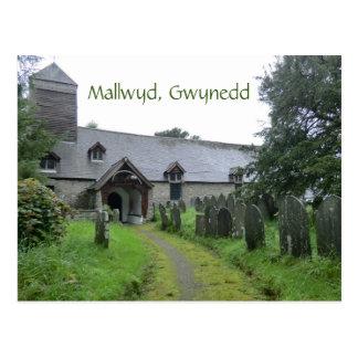 The Curious Mallwyd Church of St Tydecho Postcard