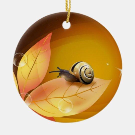 The curious Snail Ceramic Ornament