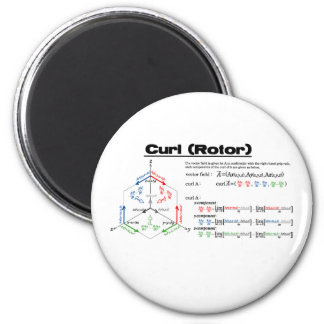 The curl (color) 2 inch round magnet