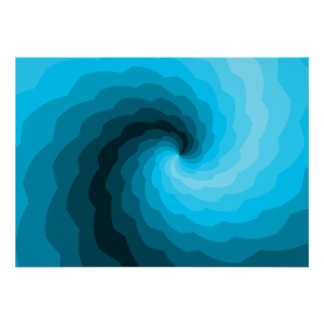 The Curl in Blue Poster