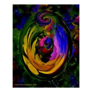 The Curl in My World Print