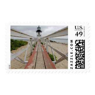 The current lighthouse, the last of many postage