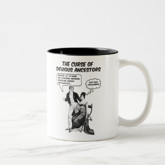The Curse Of Devious Ancestors Two-Tone Coffee Mug