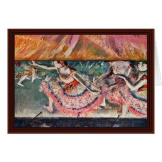 The Curtain Falls By Edgar Degas Greeting Card