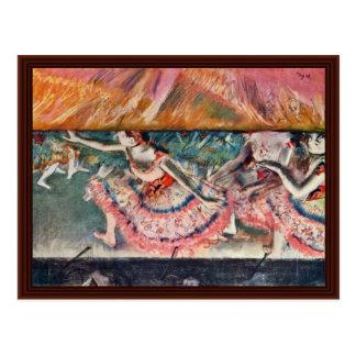 The Curtain Falls By Edgar Degas Postcard