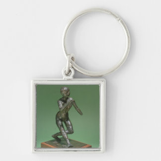 The Curtsey, c.1896 (bronze) Silver-Colored Square Keychain