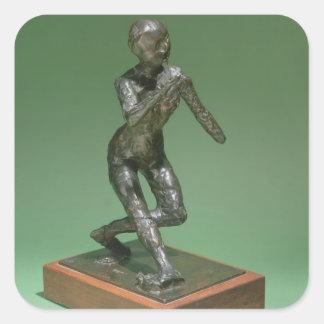 The Curtsey, c.1896 (bronze) Square Sticker