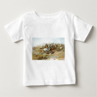 The Custer Fight by Charles Marion Russell Baby T-Shirt
