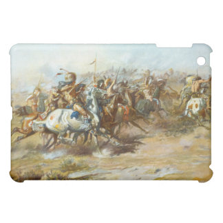 The Custer Fight by Charles Marion Russell Cover For The iPad Mini