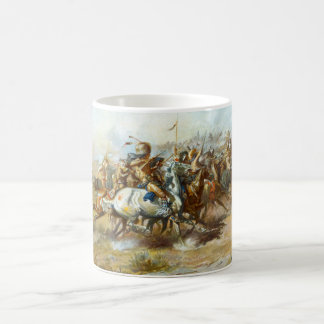 The Custer Fight by Charles Marion Russell Classic White Coffee Mug