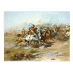 The Custer Fight by Charles Marion Russell Postcard