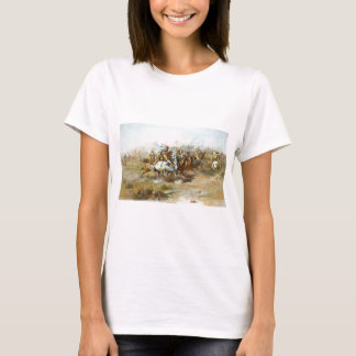 The Custer Fight by Charles Marion Russell T-Shirt