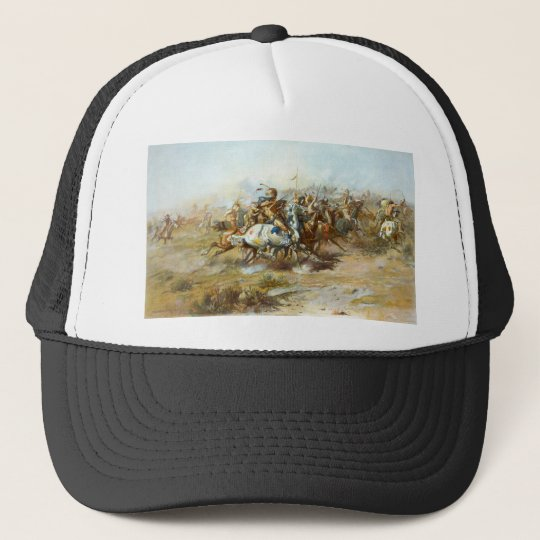 The Custer Fight by Charles Marion Russell Trucker Hat