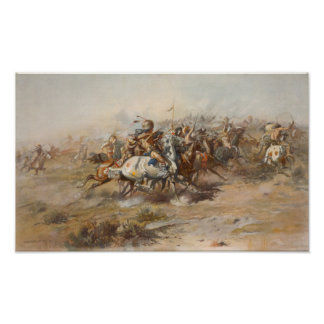The Custer Fight Print