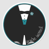 The Custom Color Tux ~ MAKE IT ANY COLOR! ~ Classic Round Sticker