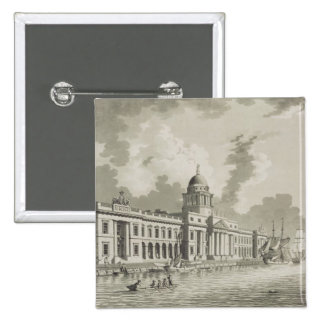 The Custom House, Dublin, 1792 (engraving) Pinback Button