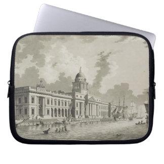 The Custom House, Dublin, 1792 (engraving) Laptop Sleeve