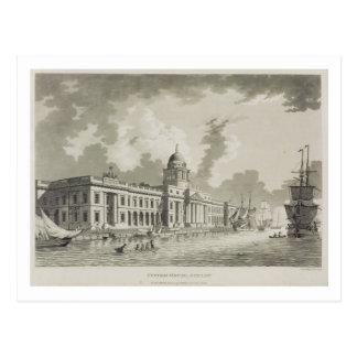 The Custom House, Dublin, 1792 (engraving) Postcard
