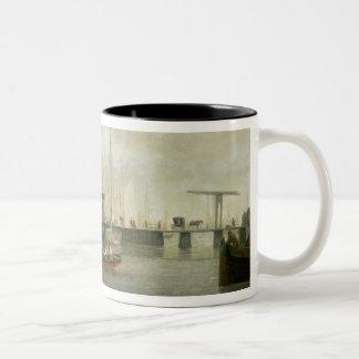 The Customs House, Amsterdam Two-Tone Coffee Mug