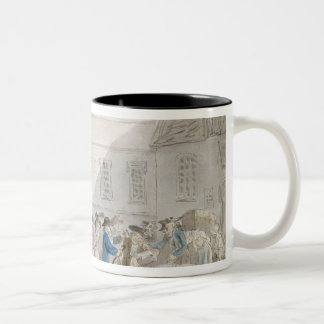 The Customs House at Boulogne (w/c with pen and gr Two-Tone Coffee Mug