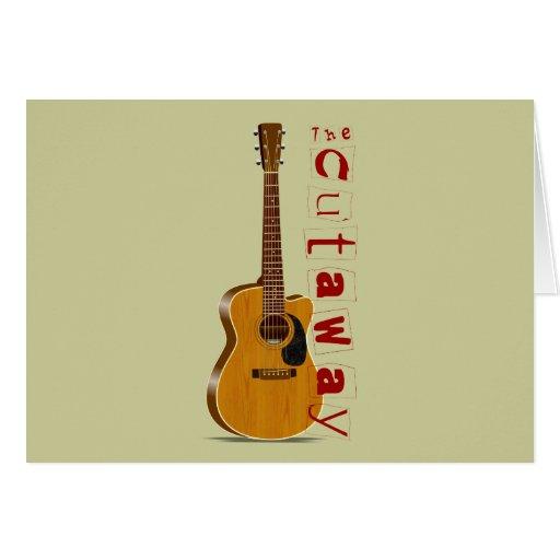 The Cutaway Acoustic Guitar Card