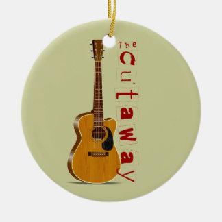 The Cutaway Acoustic Guitar Ceramic Ornament