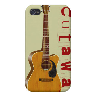The Cutaway Acoustic Guitar Cover For iPhone 4