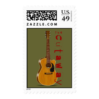The Cutaway Acoustic Guitar Postage Stamp