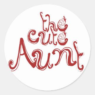 The Cute Aunt Classic Round Sticker
