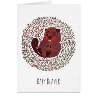 The Cute Baby Beaver Card