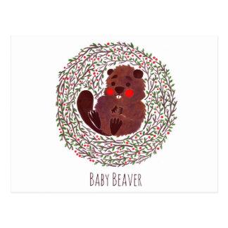 The Cute Baby Beaver Postcard