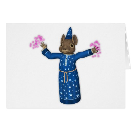The Cute Cartoon Wizard Mouse Cards