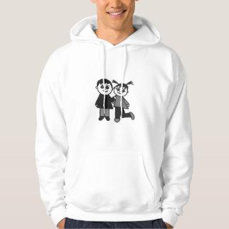 The cute couple hooded sweatshirts