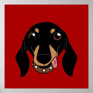 The cute Dachshund short-legged doggie friend Poster