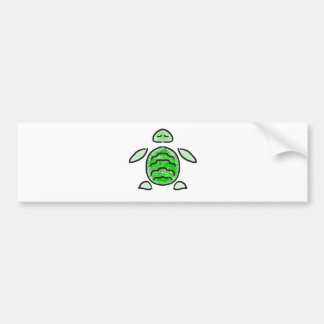 The Cute Green Sea Turtle Bumper Sticker
