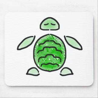The Cute Green Sea Turtle Mouse Pad