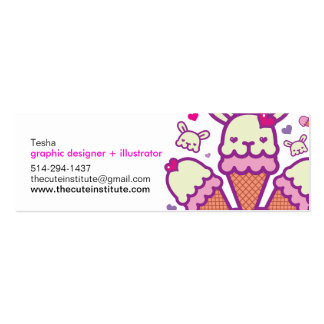 the cute institute card Double-Sided mini business cards (Pack of 20)