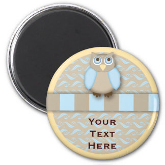 The Cute 'N Wise Old Owl 2 Inch Round Magnet