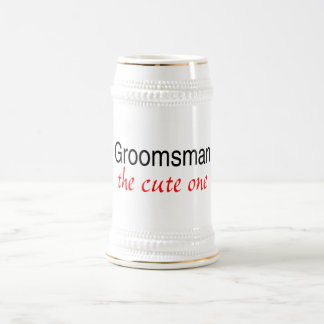 The Cute One (Groomsman) 18 Oz Beer Stein