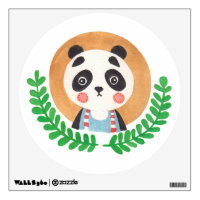 The Cute Panda Nursery Wall Art Wall Decal