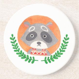 The Cute Raccoon Coaster