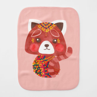 The Cute Red Panda Burp Cloth