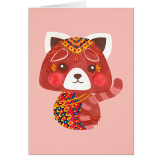 The Cute Red Panda Card
