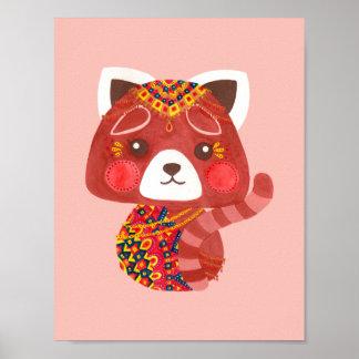 The Cute Red Panda Poster