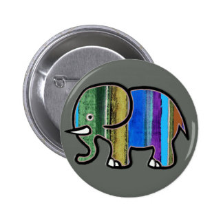 the cute striped elephant pinback button