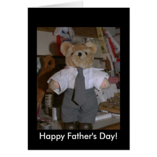 The cute suited bear greeting cards